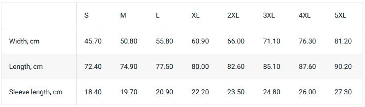 Size Chart Blackmilk.com